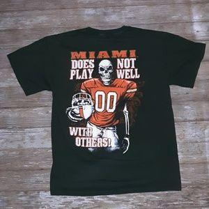 Vintage Miami Hurricanes Football T size medium